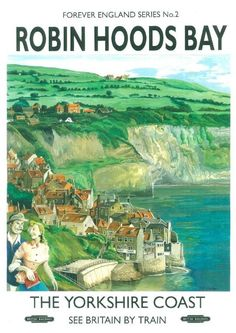 222 Vintage Railway Art Poster Robin Hood's Bay North Yorkshire  *FREE POSTERS | Art, Posters, Modern (1900-1979) | eBay!