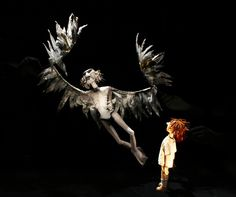 a very old man enormous wings on behance a very old man   a very old man enormous wings a little angel and kneehigh production at