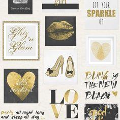 Glitz & Glam Wallpaper Gold, Silver (102556)
