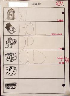Les essais d'écriture de mots GS - Lutins de maternelle Alphabet, Math, Blog, Kids, Classroom Tools, Writing Words, Letter Games, Mathematics, Children