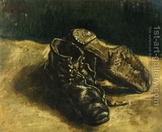 Lucy could not take her eyes off a painting of a pair of shoes. One of the shoes lay in a tattered mess with its laces undone upside down on top of the other shinier shoe. The painting spoke to Lucy of need and love. The tangled laces of the old shoe seemed to reach out like arms embracing its mate.