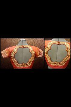 Back blouse Fancy Blouse Designs, Choli Designs, Sari Blouse Designs, Designer Blouse Patterns, Bridal Blouse Designs, Blouse Styles, Beautiful Blouses, Beautiful Saree, Sexy Blouse