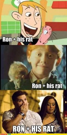 Ron + his rat Couldn't have said it better. AWAY WITH YOU JERSEY SHORE!!