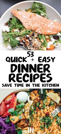 Quick and easy dinner recipes anyone can cook tonight in about 30 minutes or less. You don't have to spend a ton of time in the kitchen with these delicious meal ideas! Easy Delicious Dinner Recipes, Quick Easy Dinner, Delicious Food, Cheap Easy Meals, Cheap Dinners, Meal Ideas, Dinner Ideas, Healthy Family Dinners, Meal Planning Printable