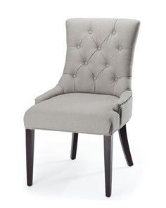 """Amanda"" Linen Dining Chair from Horchow."