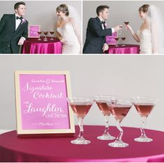 Radiant Orchid Martini via StyleUnveiled.com / Radiant Orchid Wedding
