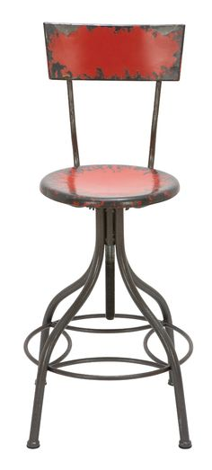 Amazon.com - Bar Chair in Red - Barstools With Backs