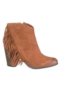 hannah bootie with fringe (original price, $44) available at #Maurices