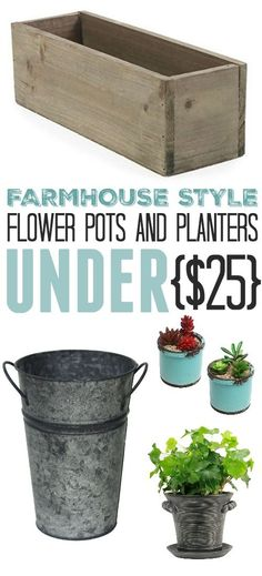 These farmhouse style flower pots will definitely brighten up your patio, deck, or porch and will get you excited for planning which flowers you're going to plant in them this spring!