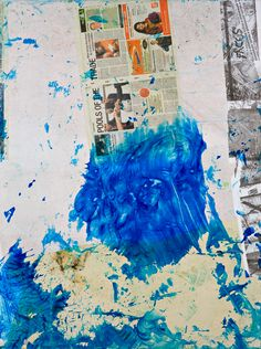 JOSH SMITH, COLLAGE PAINTING NO 8: a perfect blue.