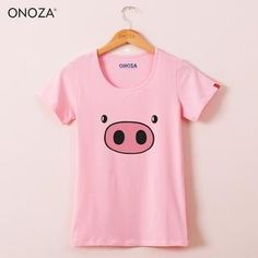 Buy 'Onoza – Short-Sleeve Pig-Print T-Shirt' with Free International Shipping at YesStyle.com. Browse and shop for thousands of Asian fashion items from China and more!
