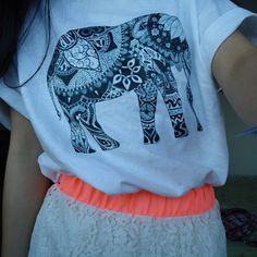 9261f1819b0 There is 1 tip to buy shirt, hipster, elephant, elephant print tank tee,  hipster top.