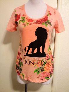"RARE! NWT Womens Pink ""The Lion King"" Shirt Medium #Disney #GraphicTee"