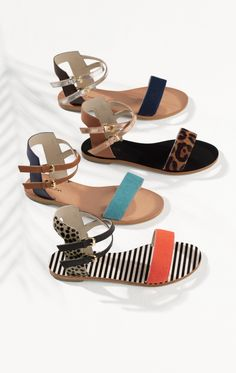 These sandals come in more colourways than we can handle (well, almost)… Cute Sandals, Cute Shoes, Only Shoes, Pony Hair, Tans, Party Shoes, Animal Prints, Designer Shoes, Leather Boots