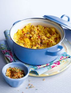 Baked saffron risotto recipe By Lucy Williams Mince Recipes, Uk Recipes, Risotto Recipes, Vegetarian Recipes, Cooking Recipes, Savoury Recipes, Healthy Recipes, Veggie Delight, Food Staples