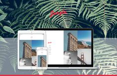 Jungle Responsive Grid Tumblr Theme by Foost on Creative Market