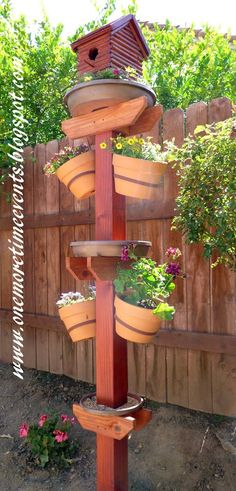 DIY Bird House, Bird Bath, Bird Feeder, and Terra Cotta Flower Pots
