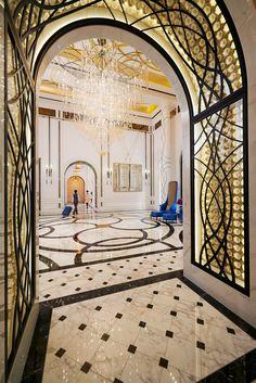 Milan City Guide The Luxury Mandarin Oriental Hotel will open in 2015 !-Hotel Mandarin Lobby