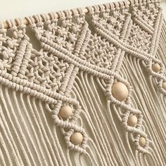 Medium Macrame Cotton Wall Hanging / Macrame Wall Art / Knotty Knotty Macrame – The best ideas Macrame Wall Hanging Patterns, Large Macrame Wall Hanging, Macrame Patterns, Macrame Curtain, Macrame Cord, Macrame Knots, Art Macramé, Macrame Design, Macrame Tutorial