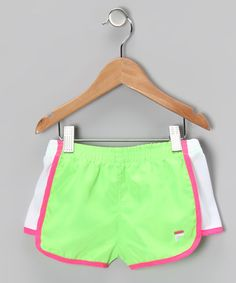 Fit for performance or fashion, this pair comes in a streamlined style that includes a comfy elastic waistband and a brilliantly bright color. Its quality cut and airy material make it a terrific teammate for any activity. Short Girls, Gym Shorts Womens, Comfy, Pairs, Activities, Fitness, Green, Bright, Baby