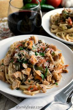 Linguini with Clam Sauce - Basque-Style. A fusion of a classic Italian recipe for Linguini with clam sauce with added French and Spanish influences from the Basque region of France. So delicious!