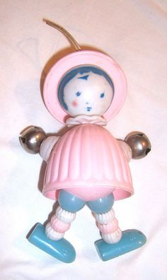 Vintage Doll Baby Rattle