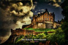 Edinburgh Castle with a hint of Oils