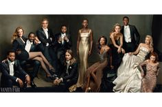 Sneak Peek: The 2014 Hollywood Issue Cover | Vanity Fair (And fully HALF of their distinguished actors for this cover are people of color! Woot!)