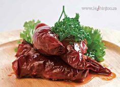 Manastirske punjene paprike (posno) Vegan Recepies, Vegetarian Recipes, Spinach, Beef, Meals, Vegetables, Cooking, Ethnic Recipes, Desserts