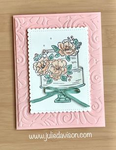 Julie's Stamping Spot — Stampin' Up! Project Ideas by Julie Davison: Happy Birt… Julie's Stamping Spot — Stampin' Up! Project Ideas by Julie Davison: Happy Birthday to You Cake Card Happpy Birthday, Happy Birthday Ecard, Happy Birthday Images, Happy Birthday Greetings, Birthday Quotes, Birthday Wishes, Birthday Cake Card, Birthday Presents, Christian Cards