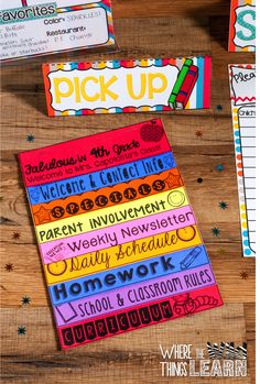 free parent flip book template featuring astrobrights paper a