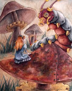 A kind of compromise between the steam punk and the realism.  A Rusty Old Tale by monicaorangeart.deviantart.com on @deviantART