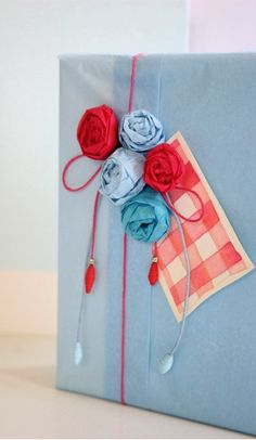 tissue paper wrapping and roses ..