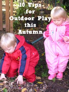 10 Tips for Outdoor Play this Autumn with Toddlers and would work for preschoolers and older kids as well Outside Activities, Autumn Activities, Toddler Activities, Outdoor Activities, Activities For Kids, Activity Ideas, Fall Preschool, Outdoor Classroom, Outdoor Play
