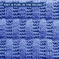 Over 100 knitting stitch patterns that can be made using only knit and purl stitches. Skill levels range from easy to intermediate Loom Knitting Stitches, Dishcloth Knitting Patterns, Knit Dishcloth, Knitting Charts, Lace Knitting, Knitting Squares, Free Baby Blanket Patterns, How To Purl Knit, Garter Stitch