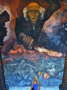 Orozco murals at the Hospicio Cabanas in Guadalajara, Mexico.