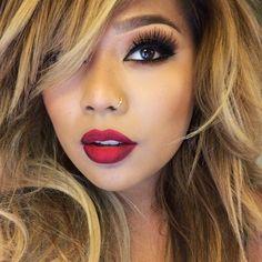 Red lips ❤️ MERLOT liquidate lipstick ❤️