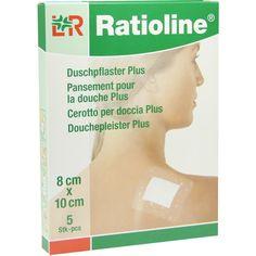 RATIOLINE aqua Duschpflaster Plus 8x10 cm steril:   Packungsinhalt: 5 St Pflaster PZN: 05484416 Hersteller: Lohmann & Rauscher GmbH &…