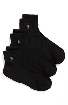 59dd0b18 POLO RALPH LAUREN 3-PACK TECH ATHLETIC QUARTER SOCKS. #poloralphlauren  #cloth. ModeSens Men