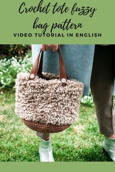 Crochet Fuzzy bag PDF pattern by IlovecreateStore. Faux Fur shopping bag Video tutorial Cotton cord Beginner crochet bag Crochet bag pattern Gift for knitters. Crochet Fuzzy bag PDF pattern with complete and detailed video-description of the whole shopping bag creating process. The pattern for creating a bag is not difficult and is detailed in the video. The terms of crocheting are 1-2 days.