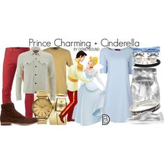 Prince Charming + Cinderella by leslieakay on Polyvore featuring Common Projects, Topshop, Disney Couture, prAna, Levi's, 3x1, Replay, Officine Creative, Nixon and KR3W