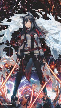 Anime Wolf Girl, Anime Girl Neko, Cool Anime Girl, Pretty Anime Girl, Anime Chibi, Cute Anime Girl Wallpaper, Art Anime, Anime Artwork, Anime Art Girl