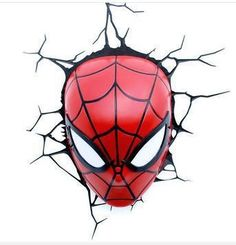 84.99$  Buy now - http://aliw60.worldwells.pw/go.php?t=32792071269 - creative Children Christmas gift birthday Dream master cartoon superhero marvel spider man LED wall lamp bedroom light party 84.99$