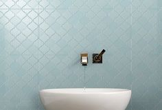 Brick Look Tile, Marble Look Tile, Patterned Wall Tiles, Grey Tiles, Moroccan Tile Bathroom, Tile Bathrooms, Bathroom Designs, Bathroom Ideas, Koi