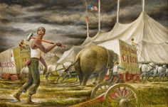 This the official website of the artist Robert Edward Weaver. Circus Poster, Poster On, Circus City, Winter Quarters, Edward Hopper, Historical Society, Art Museum, Oil On Canvas