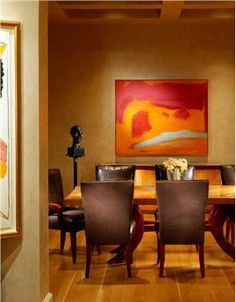 Contemporary (Modern, Retro) Dining Room by Jamie Herzlinger
