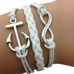 Anchor and Infinity Arm Party – White