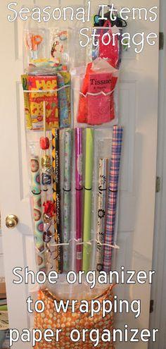 Seasonal item storage...gift wrap, cards, totes for each season, etc.