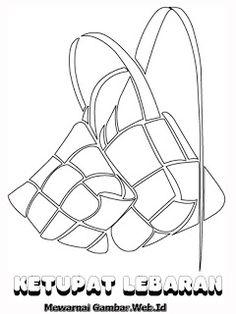 Hasil gambar untuk sketsa ketupat