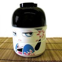 Kokeshi Bento Lunch Box, Blue